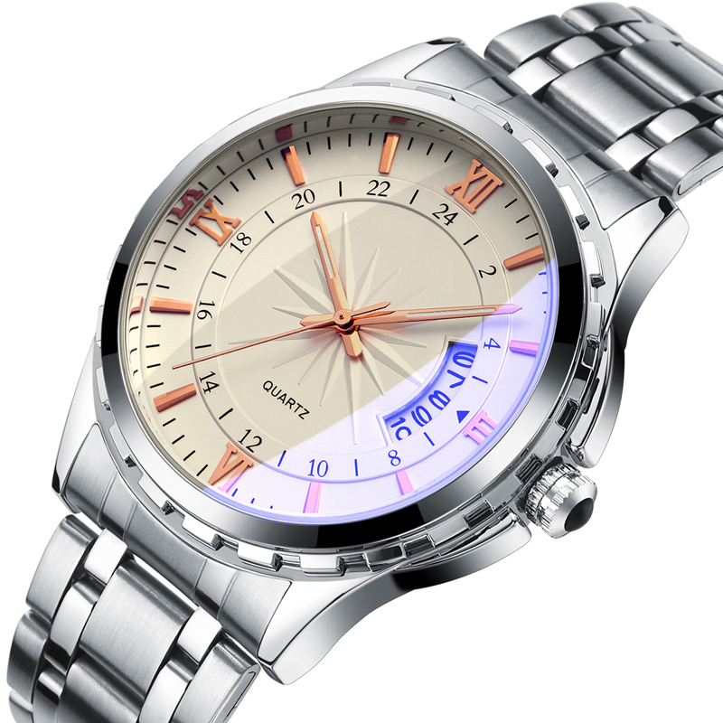 Top Luxury Brand Men Watch Waterproof Noctilucent Casual Man Watches Retro Relogio Masculino Luminous Steel Band Calendar