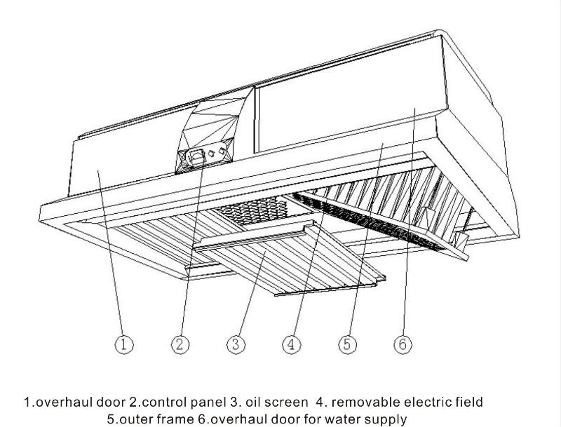Fume Capture Hood With Electrostatic Grease Filter For Kitchen ...