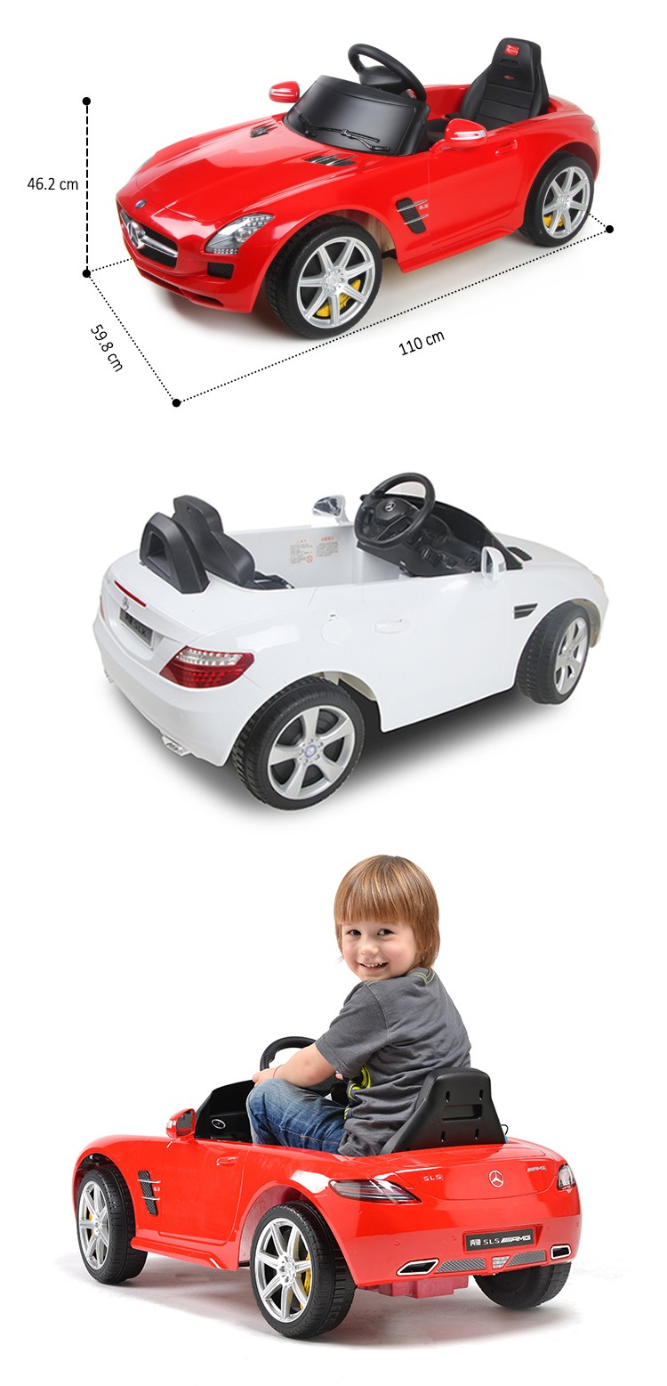 BENZ licensed Rastar 2018 popular kids electric ride on car drivable toy car for child