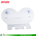 Home Bathtub Wine Glass Cup Holder Caddy Shower & Relax Bath With Powerful Strong Suction Cups Perfect Wedding Gift Heart Shape
