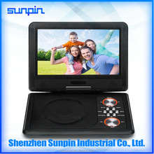 9 inch portable dvd/vcd/cd/mp3/mp4 player hevd pdvd with digital tv tuner