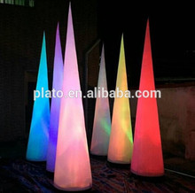 High Quality Oxford Cloth Colorful Lighting Inflatable Cone With LED Light For Sale