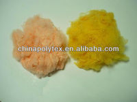 recycle colored polyester staple fiber 1.5d*38mm with great low price