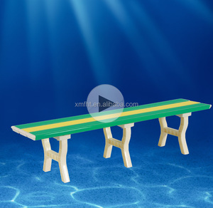 Abs plastic swimming pool outdoor benches park sports commercial bench seating garden benchs
