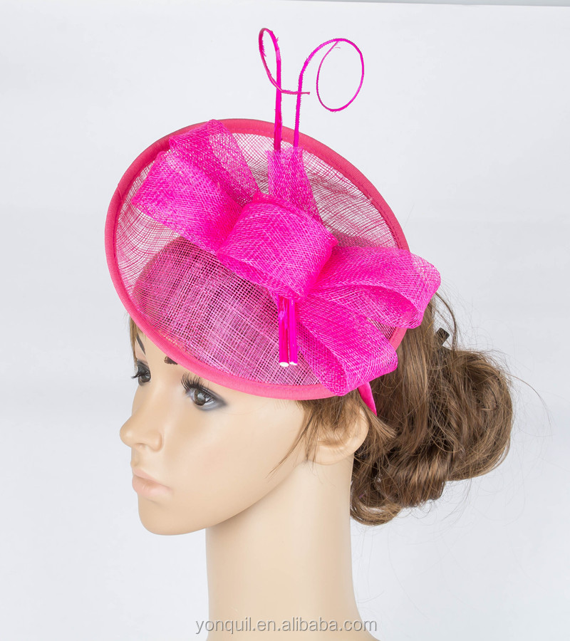 Artistic 16 colors available sinamay material fascinator headwear birthday hat show <strong>hair</strong> <strong>accessories</strong> MYQ079