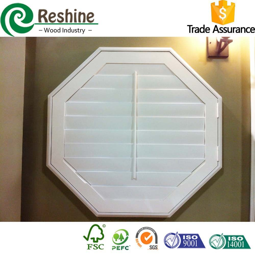 Octagon design wooden window shutter buy wooden window for Buy new construction windows online