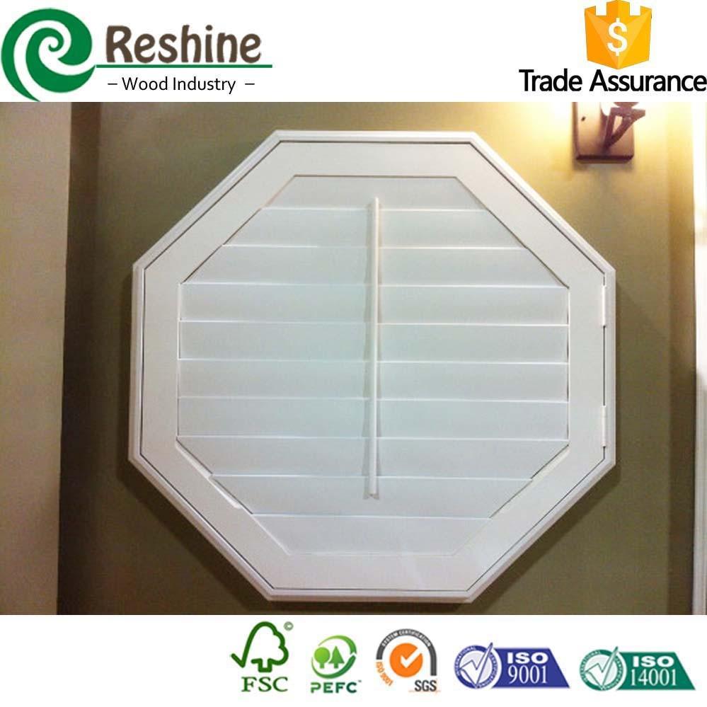 Octagon Design Wooden Window Shutter Buy Wooden Window