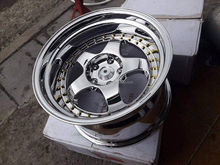 white vaccum chrome alloy whee/rim/disk/hub l for car F17060503