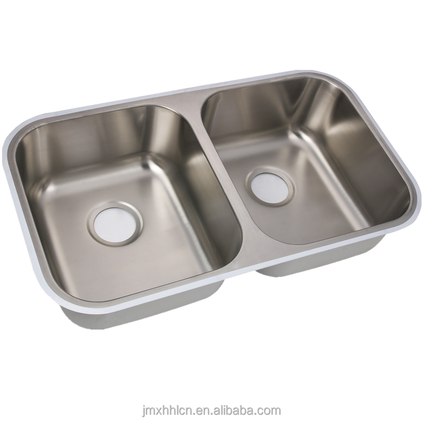 Export Hot Sale Usa Stainless Steel Double Bowl Vessel Undermount