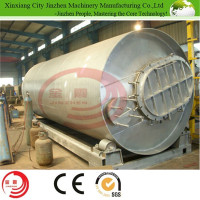 only 2 workers operation plastic recycling pyrolysis plant to fuel oil
