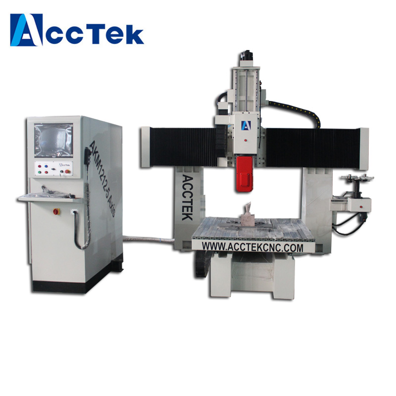 Wood pattern cnc router / 360 degree head turn 4axis 5 axis cnc milling machine