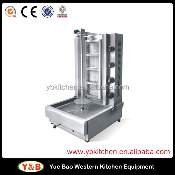 4 Burners Gas Shawarma Machine / Shawarma equipment