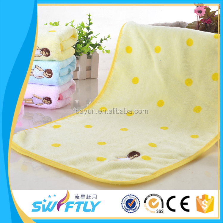 baby towel 100% cotton washing face children towel