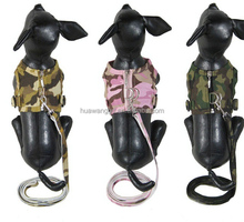 Dog full body vest harness with lanyard in camouflage