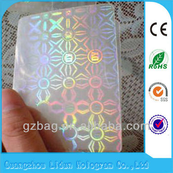 A grade 3D transparent hologram sticker for ID card Guangzhou Lianlong