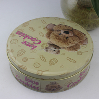 High Quality Chinese Factory Round Metal Candy Packing Tin Box