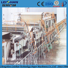 Waste paper recycling equipment / small paper plant machine to make new paper rolls