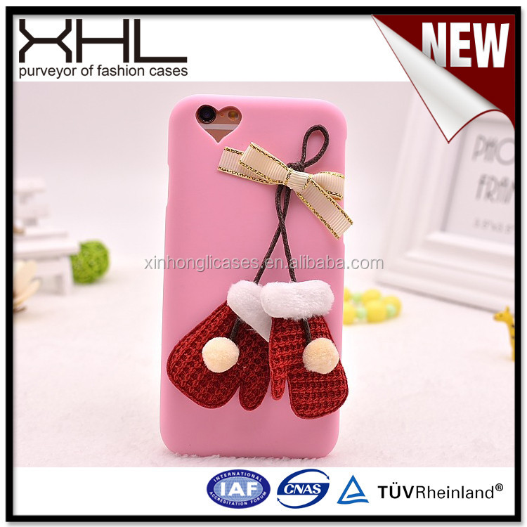 Christmas Glove - shaped For Apple leather double cell phone case