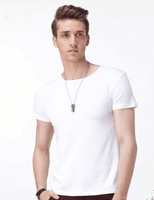 TSE114 custom clothing manufacture mens apparel slim fit blank t shirt wholesale in china