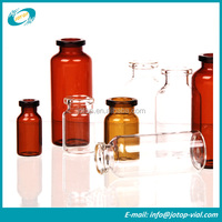 ISO Clear And Amber Pharmaceutical Injection Tubular Glass Vial