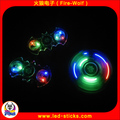 LED Crystal Fidget Spinner 608 Bearing Hand Spinner Toy With LED Wholesale Manufacturer China