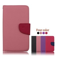Manufacturer Cell Phone PU Flip Case for lg E400 for lg E400 leather