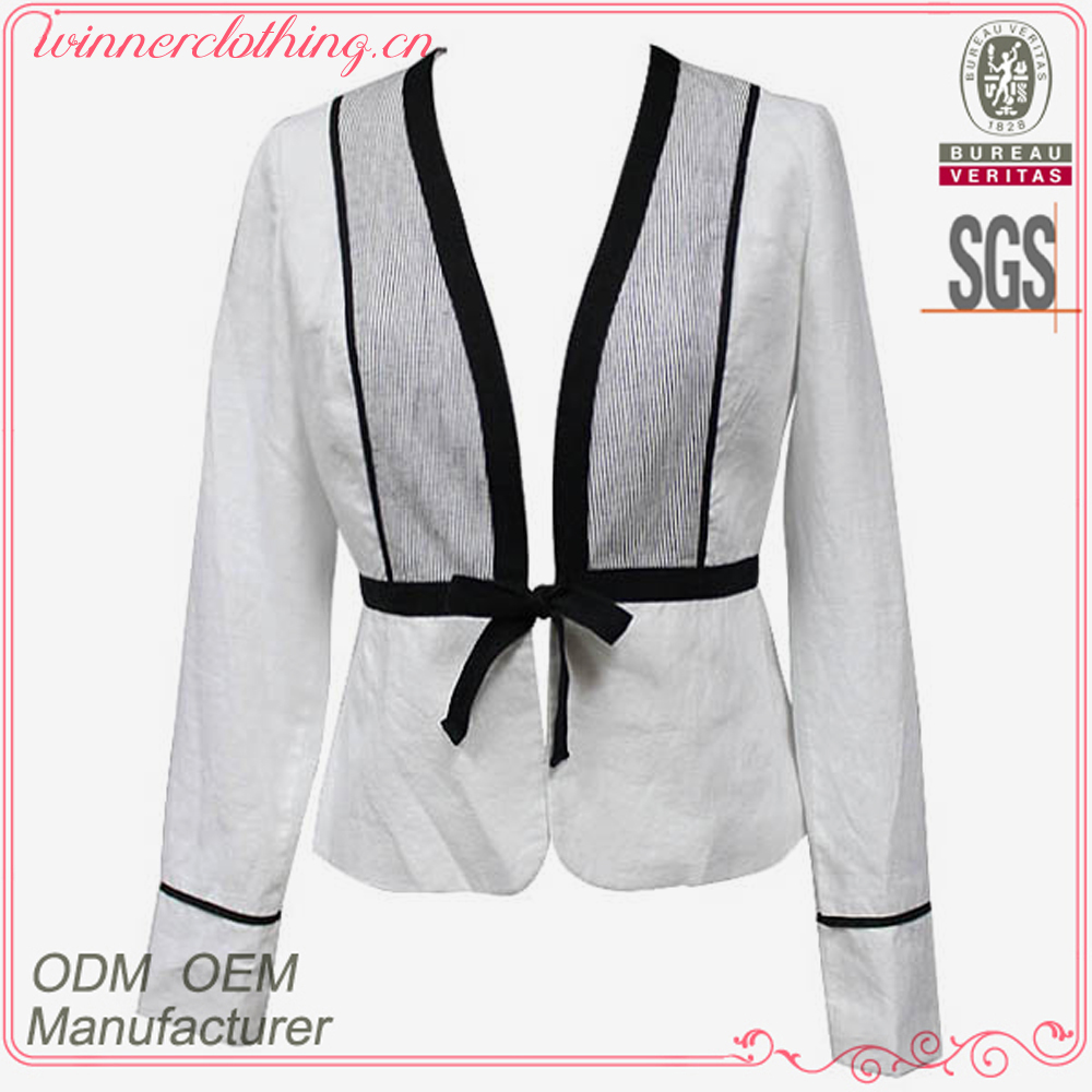 Good quality fashion design long sleeve heavy work blouses