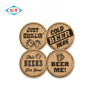 Hot sale cheap beer drink coaster, wood cardboard cork coaster