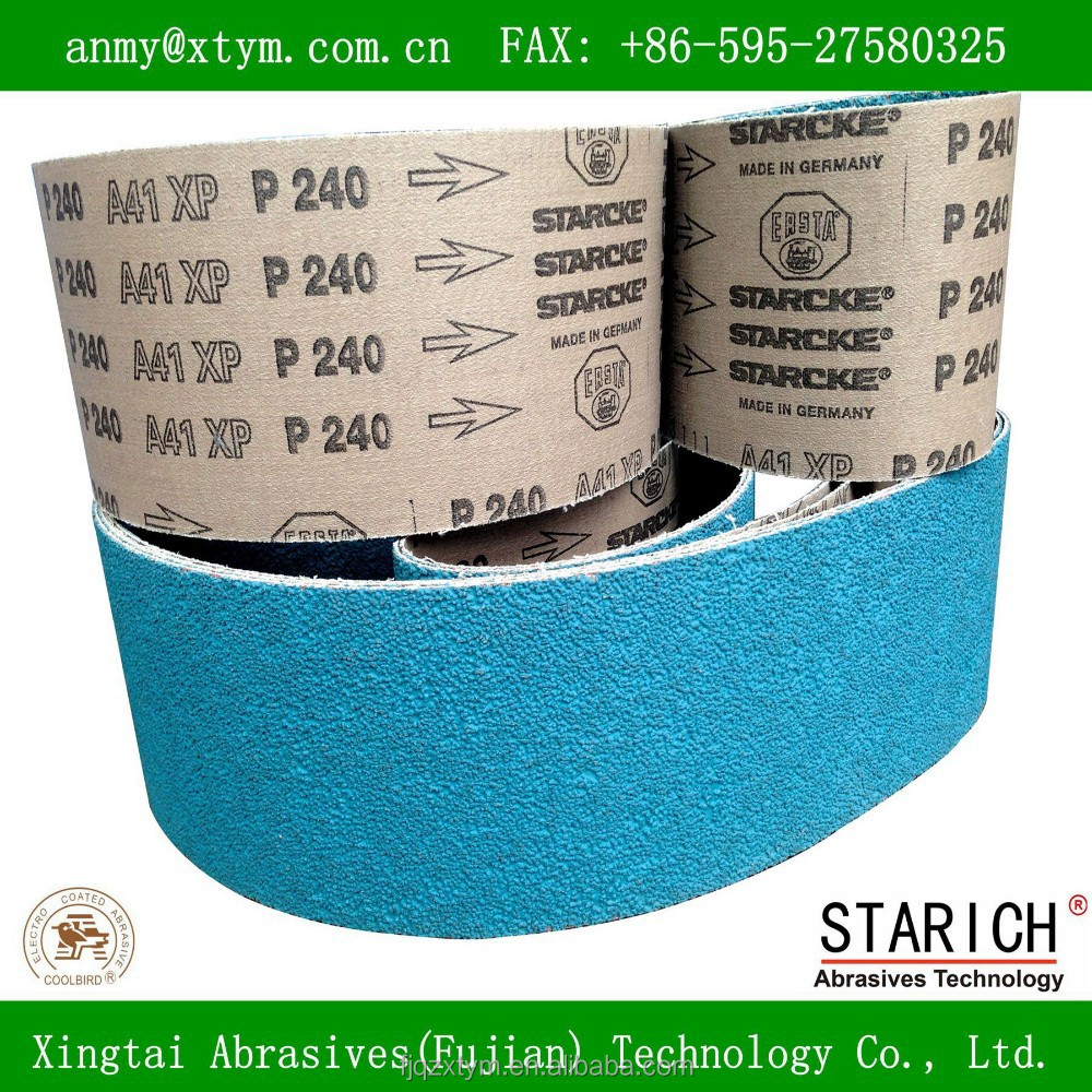 Sharp Pearl grinding abrasive belt with aggressive cut rate