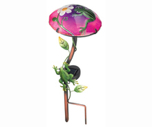Solar Mushroom Stake Frog for outdoor garden decoration