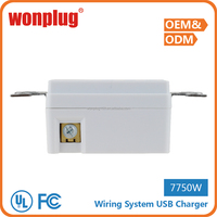 2016 new arrival uk usb wall socket with 2 usb port good reputation cool usa wall socket switch