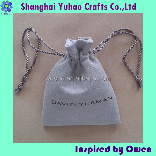 Custom made suede jewelry packing pouch with compartments