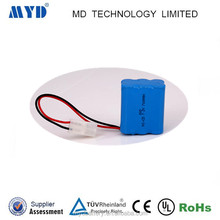 AA 700mah 7.2v 6 cells nicd battery pack with wire and plug for solar lamps and search light