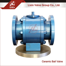 Medium pressure worm gear drive ceramic ball valve wholesale supplier