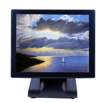 15 inch  HD waterproof and anti-dust smart tv capacitive lcd touch screen monitor with msr