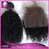 Brazilian virgin hair Black bebe curl 1pc lace closure&1pc hair weft with baby hair bleached knots