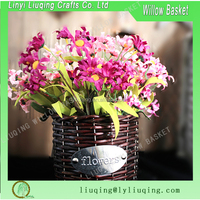 Decoration wicker flower basket wicker flower vase
