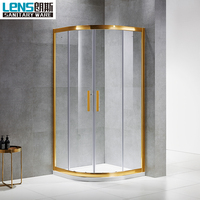 Free standing corner shower enclosure