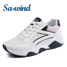 fashion women sprot shoes running high heel sneakers shoes