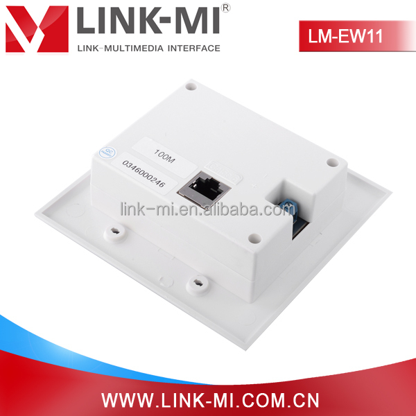 LINK-MI HDBaseT 100m powerline hdmi extender wall plate over single utp cable