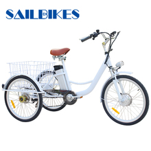 6 Speeds Folding Electric Tricycle Adults Bike For Sale