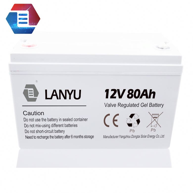 2V-12V Voltage and solar, wind, ups Usage agm deep cycle battery 12v 80ah