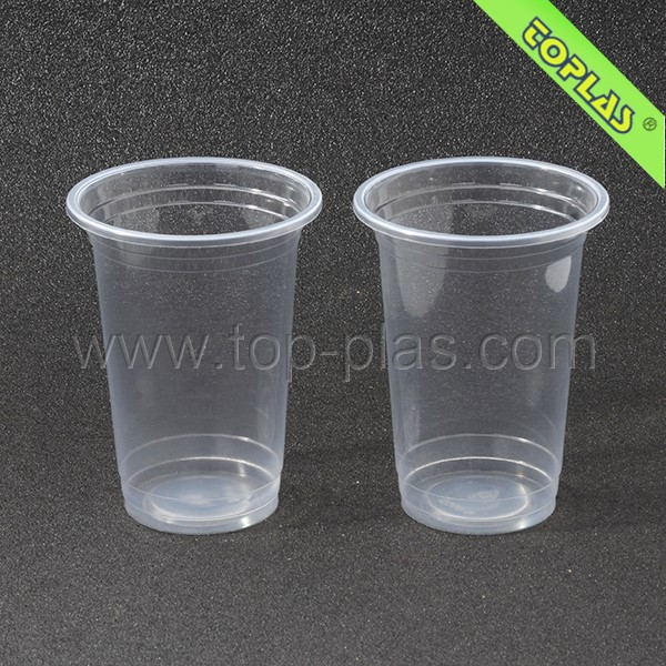 500ml 16oz Bubble Tea Cup Plastic Disposable