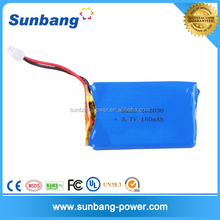 wholesale customized rechargeable 3.7v 170mah lipo battery for portable device