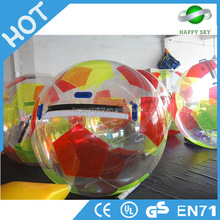 Hot water ball valve,water splash ball toy,inflatable water rolling ball
