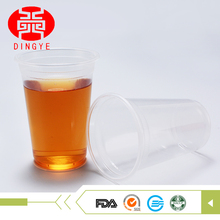 Disposable plastic tableware pp cup many size dinner set with lid