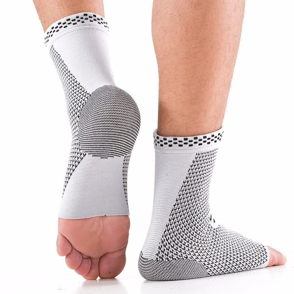 Compression Ankle Brace Sports Ankle Foot Sleeve Socks Breathable Ankle Support Protector Pair for Injury Reco