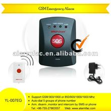 Personal security equipment GSM SMS emergency calling button alarm systems for elderly