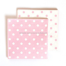 Reversible Pink Polkadot Napkins Light Pink Polka Dot Napkins Pkt 20