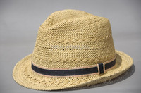 cheap promotional paper straw hat unisex straw fedora hat wholesale